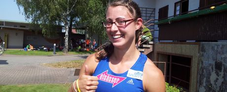 Eva Baur läuft 11.57 Sekunden