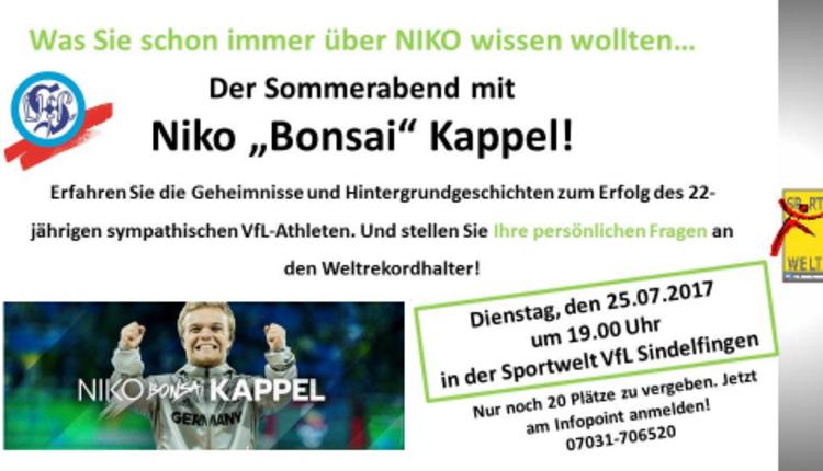 Sommerabend mit Niko Kappel