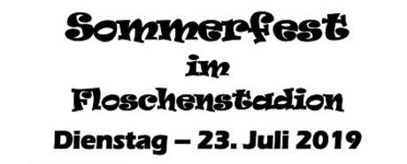 Save the Date: Großes Stadionfest am 23.Juli 2019